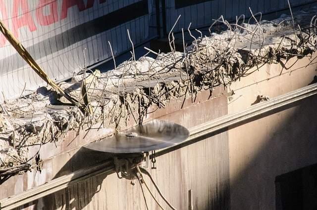 ניסור גג או קיר בטון