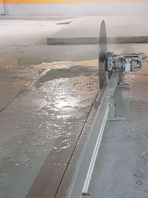 ניסור בטון ברצפה