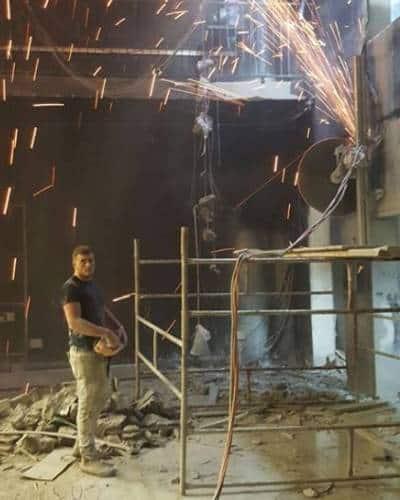 ניסור קיר בטון ביהלום