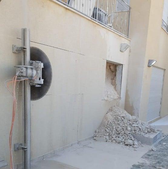 ניסור בטון לפתיחת פתח